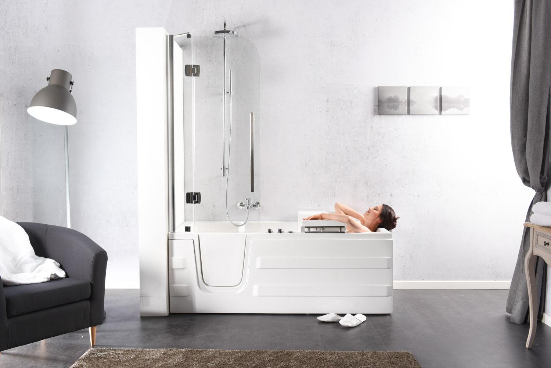 Vasca da bagno con doccia turicos impresa di costruzioni adelfia for Togliere vasca da bagno e mettere doccia